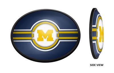 Michigan Wolverines Slimline Illuminated LED Team Spirit Wall Sign- OVAL | Grimm Industries |UM-140-01