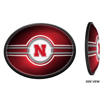 Nebraska Huskers Slimline Illuminated LED Wall Sign-Round-Oval |Grimm Industries | NB-140-01