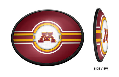 Minnesota Golden Gophers Slimline Illuminated LED Wall Sign-Oval |Grimm Industries | MN-140-01