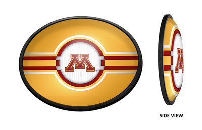 Minnesota Golden Gophers Slimline Illuminated LED Wall Sign-Oval |Grimm Industries | MN-140-02