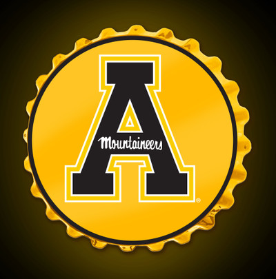 Appalachian State Mountaineers Team Spirit Bottle Cap Wall Sign | Grimm Industries |AP-210-01