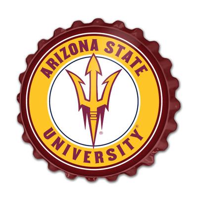 Arizona State Sun Devils Team Spirit Bottle Cap Wall Sign | Grimm Industries |AS-210-01