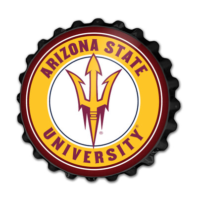 Arizona State Sun Devils Team Spirit Bottle Cap Wall Sign | Grimm Industries |AS-210-03