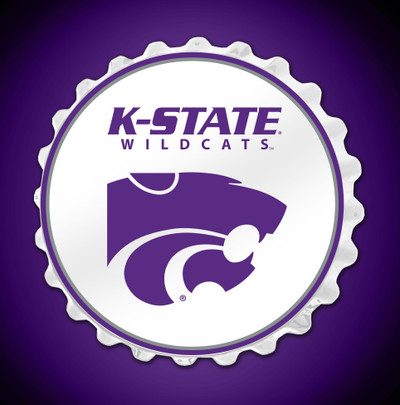 Kansas State Wildcats Team Spirit Bottle Cap Wall Sign | Grimm Industries |KS-210-01