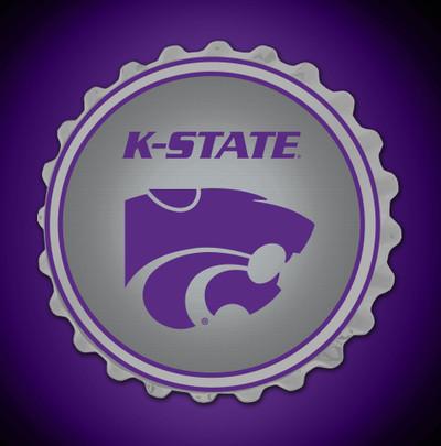 Kansas State Wildcats Team Spirit Bottle Cap Wall Sign | Grimm Industries |KS-210-02