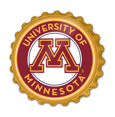 Minnesota Golden Gophers Team Spirit Bottle Cap Wall Sign | Grimm Industries |MN-210-02