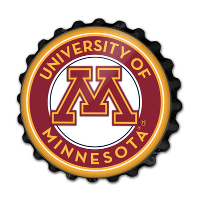 Minnesota Golden Gophers Team Spirit Bottle Cap Wall Sign | Grimm Industries |MN-210-03