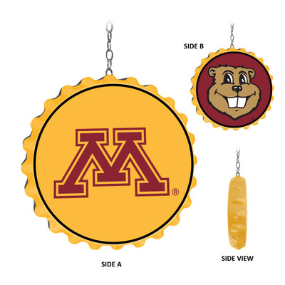 Minnesota Golden Gophers Team Spirit Bottle Cap Dangler | Grimm Industries |MN-220-01