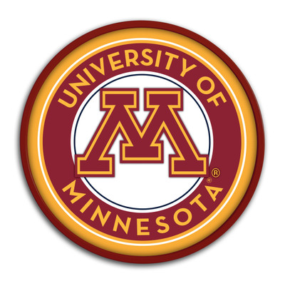 "Minnesota Golden Gophers 17"" Team Disc Wall Sign 
