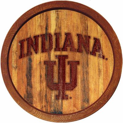 "Indiana Hoosiers 20"" Barrel Team Logo Wall Sign | Grimm Industries |IN-240-02"