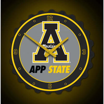 Appalachian State Mountaineers Team Spirit Bottle Cap Wall Clock| Grimm Industries |AP-540-01