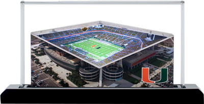 Miami Hurricanes Hard Rock 3-D Stadium Replica|Homefields |2001663D
