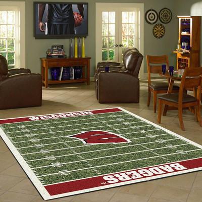 Wisconsin Badgers Football Field Rug | Imperial | 520-3013