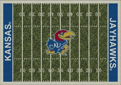 Kansas Jayhawks Football Field Rug | Milliken | 4000053956