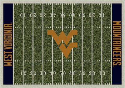 West Virginia Mountaineers Football Field Rug | Milliken | 4000053957