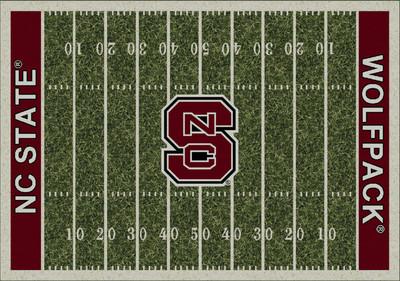 NC State Wolfpack Football Field Rug   Milliken   4000054643