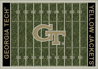 Georgia Tech Yellow Jackets Football Field Rug | Milliken | 4000054625
