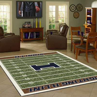 Illinois Fighting Illini Football Field Rug | Milliken | 4000054629