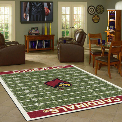Louisville Cardinals Football Field Rug | Imperial | 520-3031