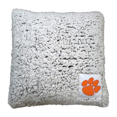 Clemson Tigers Frosty Fleece Throw Pillow Throw Pillow | Logo Chair | 123-812