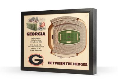 Georgia Bulldogs Framed 3-D Stadium Art | Stadium Views | 9022398