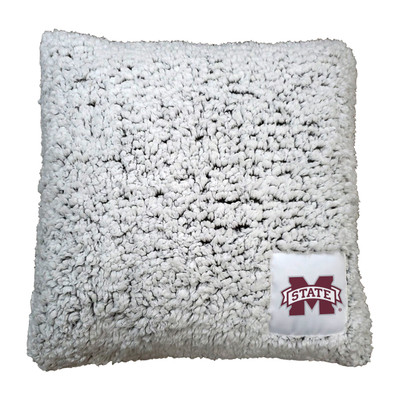 Mississippi State Bulldogs Frosty Fleece Throw Pillow | Logo Chair | 177-812