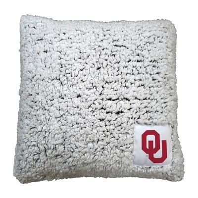 Oklahoma Sooners Frosty Fleece Throw Pillow   Logo Chair   192-812