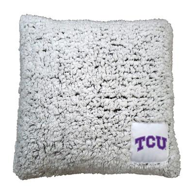TCU Horned Frogs Frosty Fleece Throw Pillow |Logo Chair | 215-812