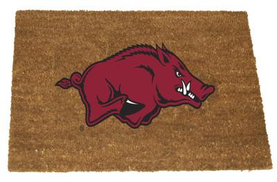 Arkansas Razorbacks Logo Door Mat| Memory Company | COL-ARK-1689