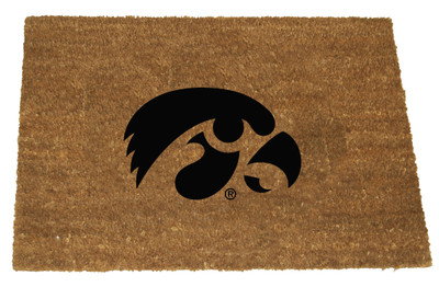 Iowa Hawkeyes Logo Door Mat   Memory Company   IOW-1689