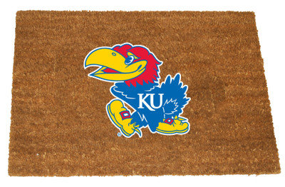 Kansas Jayhawks Logo Door Mat | Memory Company | KAN-1689