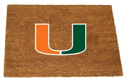 Miami Hurricanes Logo Door Mat | Memory Company | MIA-1689