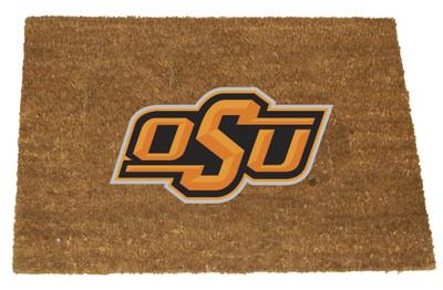 Oklahoma State Cowboys Logo Door Mat   memory company   OKS-1689