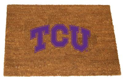 TCU Horned Frogs Logo Door Mat | MEMORY COMPANY| TCU-1689