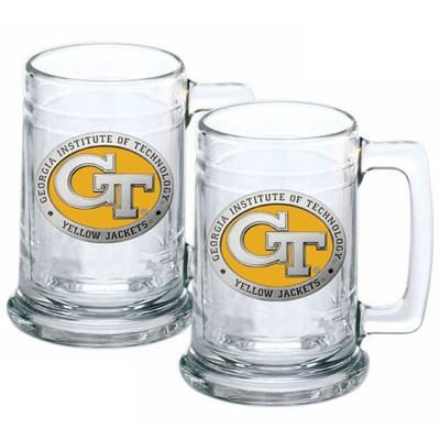 Georgia Tech Yellow Jackets Beer Mug Set of Two | Heritage Pewter | ST10463EY