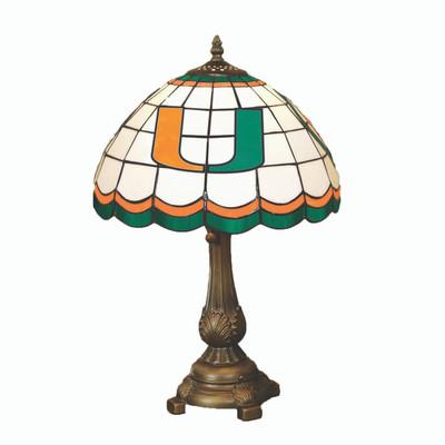 Miami Hurricanes Tiffany Table Lamp   MEMORY COMPANY   MIA-500