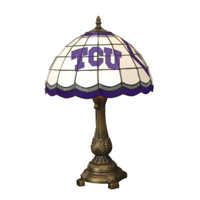 TCU Horned Frogs Tiffany Table Lamp | MEMORY COMPANY | TCU-500