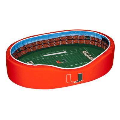 Miami Hurricanes Stadium Pet Bed | Stadium Spot | FB-MIA-20