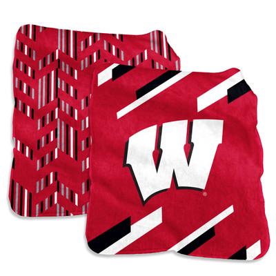 Wisconsin Badgers Super Plush Blanket | Logo Chair | 244-27S-1