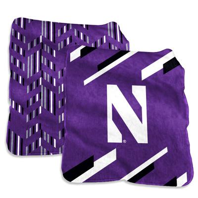Northwestern Wildcats Super Plush Blanket | Logo Chair | 189-27S-1