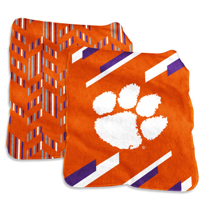 Clemson Tigers Super Plush Blanket    Logo Chair   123-27S-1