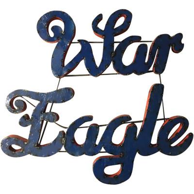 Auburn Tigers Recycled Metal Wall Decor War Eagle