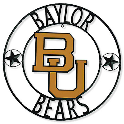 Baylor Bears Wrought Iron Wall Decor 18"