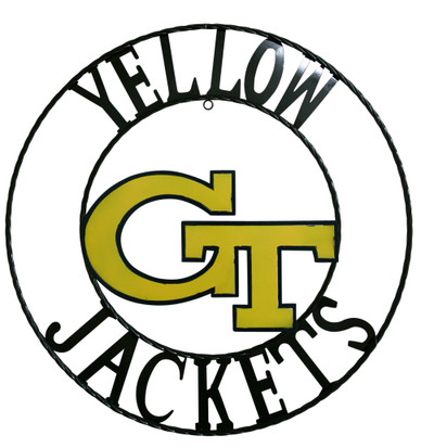 Georgia Tech Yellow Jackets Wrought Iron Wall Decor | LRT SALES | GTWRI18