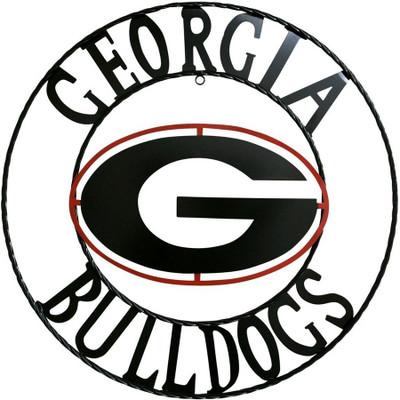 Georgia Bulldogs Wrought Iron Wall Decor | LRT SALES | GA1WRI24