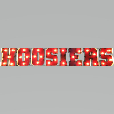 Indiana Hoosiers Recycled Metal Wall Decor Illuminated | LRT SALES | INDWDLGT