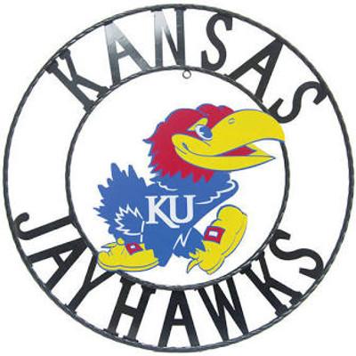 Kansas Jayhawks Wrought Iron Wall Decor   LRT SALES  