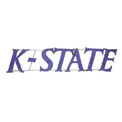 Kansas State Wildcats Recycled Metal Wall Decor KState | LRT SALES | KSTATEWD