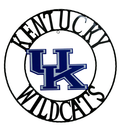Kentucky Wildcats Wrought Iron Wall Decor | LRT SALES | UKWRI24