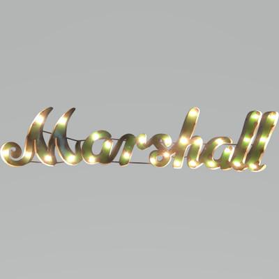 Marshall Thundering Herd Recycled Metal Wall Decor Illuminated | lrt sales | MARSHWDLGT